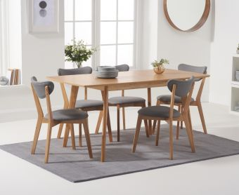 Sacha 120cm Extending Dining Table with Sacha Chairs