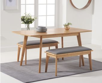 Sacha 120cm Extending Dining Table with Benches