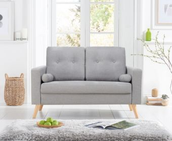 Jennifer Grey Linen 2 Seater Sofa