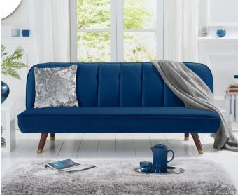 Julianna Sofa Bed in Blue Velvet