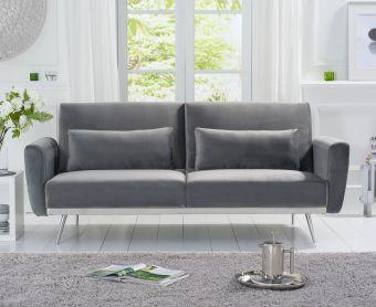 Emilia Sofa Bed in Grey Velvet