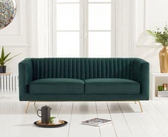 Darbie Green Velvet 2 Seater Sofa