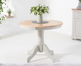 Epsom 90cm Grey Pedestal Dining Table