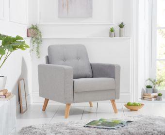 Jennifer Grey Linen Armchair