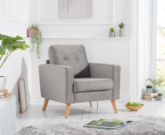 Jennifer Grey Velvet Armchair