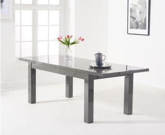 Atlanta 160cm Dark Grey High Gloss Extending Dining Table