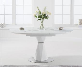 Jose 120cm Round White Dining Table