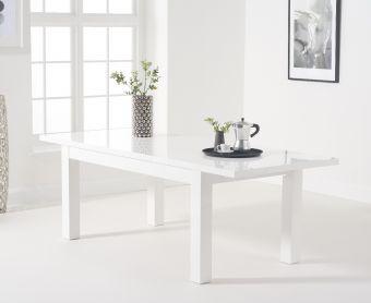 Atlanta 160cm White High Gloss Extending Dining Table