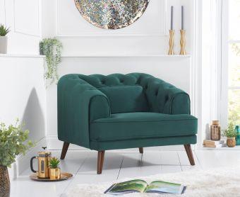 Delilah Green Velvet Armchair
