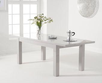 Atlanta 160cm Light Grey High Gloss Extending Dining Table