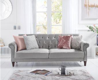 Orlando Grey Velvet Sofa Bed