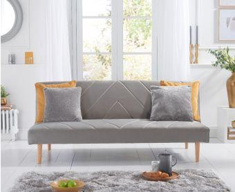 Waldorf Grey Velvet Sofa Bed