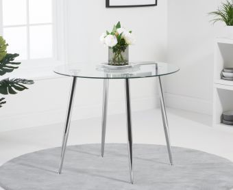 Cassa 90cm Glass Round Dining Table