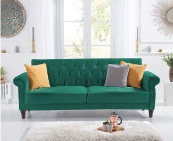 Orlando Green Velvet Sofa Bed