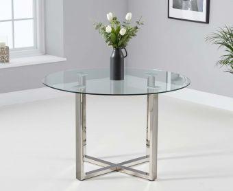 Vidre 120cm Round Glass Dining Table