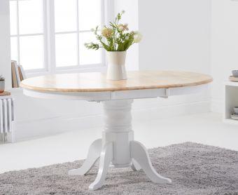 Epsom Oak and White Extending Dining Table