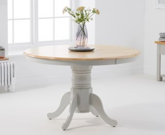 Epsom Oak and Grey Extending Dining Table