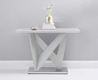 Rami Light Grey Marble Effect Carrera Console Table