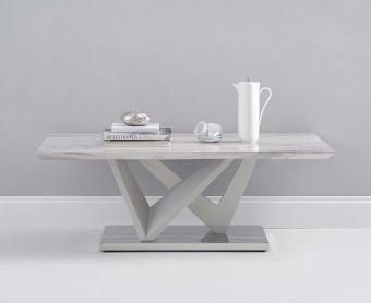 Rami Light Grey Marble Effect Carrera Coffee Table