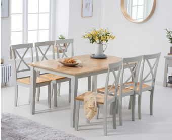 Chiltern 150cm Oak and Grey Dining Table Set with Epsom Chairs