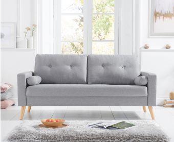 Jennifer Grey Linen 3 Seater