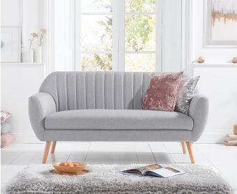 Lima Grey Linen Armchair