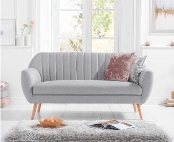 Lima Grey Linen 3 Seater Sofa