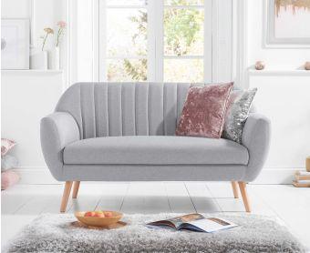 Lima Grey Linen 2 Seater Sofa