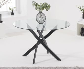 Montigue 120cm Round Glass Dining Table