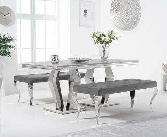 Veneziana 180cm Marble Dining Table with Fairmont Benches