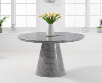 Romana 130cm Round Grey Marble Dining Table