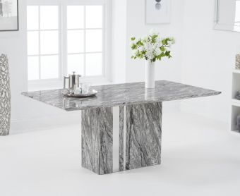 Adi 180cm Grey Marble Dining Table