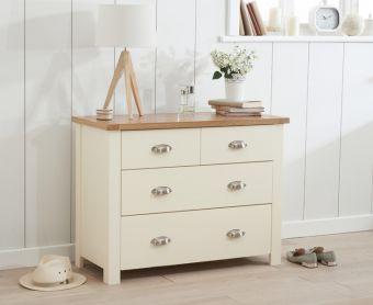 Somerset Oak and Cream 2 Over 2 Drawer Chest