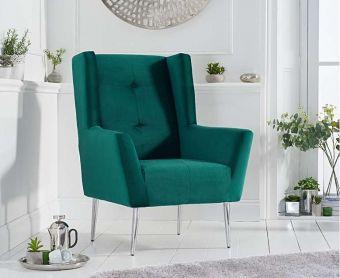 Bailey Green Velvet Accent Chair