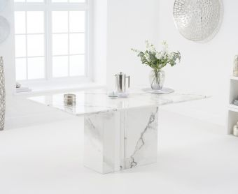 Adi 180cm White Marble Dining Table