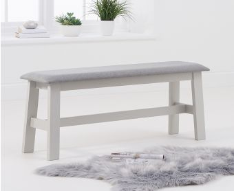 Chiltern Large Oak and Grey Bench with Fabric Seat
