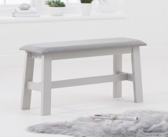 Chiltern Oak and Grey Bench with Fabric Seat
