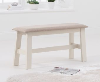 Chiltern Oak and Cream Bench with Fabric Seat