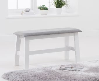 Chiltern White Bench with Fabric Seat