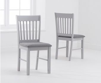 Amalfi Grey Dining Chairs with Fabric Seats (Pairs)