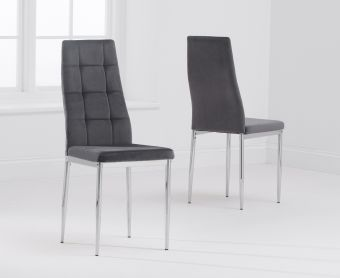 Melissa Grey Velvet Dining Chairs