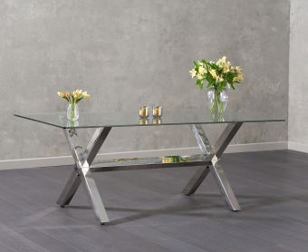Rexford 200cm Glass Dining Table