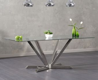 Ray 200cm Glass Dining Table
