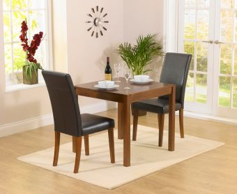 Oxford 80cm Dark Solid Oak Dining Table with Albany Chairs