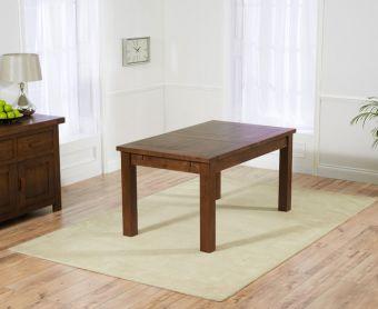 Normandy 150cm Dark Solid Oak Extending Dining Table