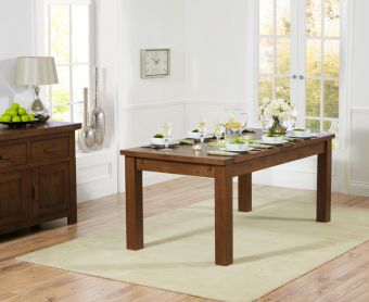 Normandy 180cm Dark Solid Oak Extending Dining Table