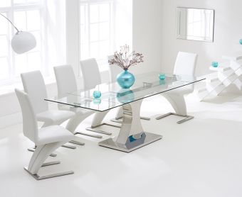 Athena 160cm Extending Glass Dining Table with Hampstead Z Chairs