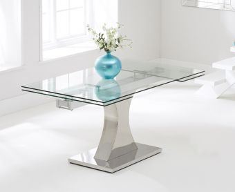 Athena 160cm Glass Extending Dining Table