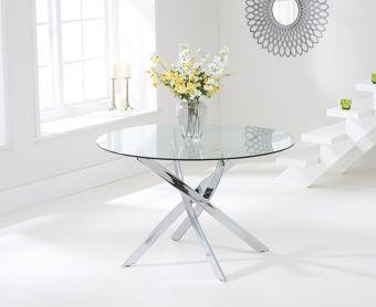 Denver 110cm Glass Dining Table