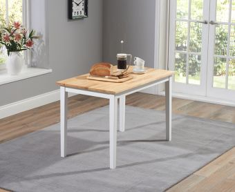 Chiltern 114cm White and Oak Dining Table